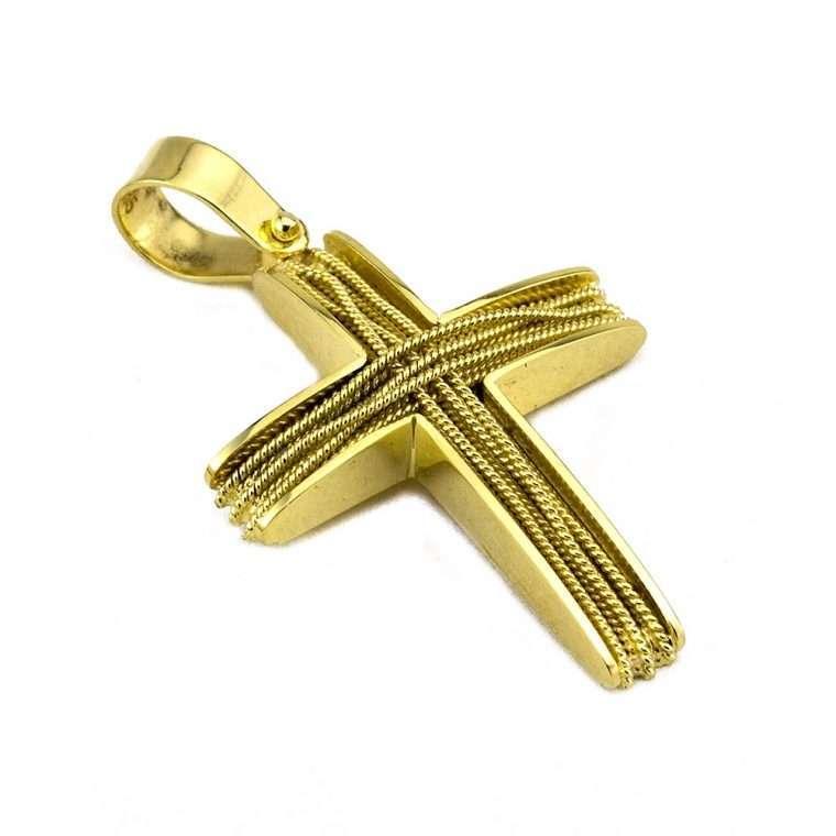 Σταυρός Χρυσός, συρματερός για Αγόρι/Κορίτσι Νο.585