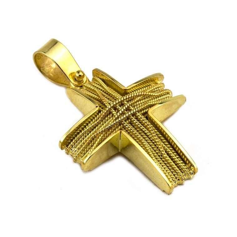 Σταυρός Χρυσός, συρματερός για Αγόρι/Κορίτσι Νο.586