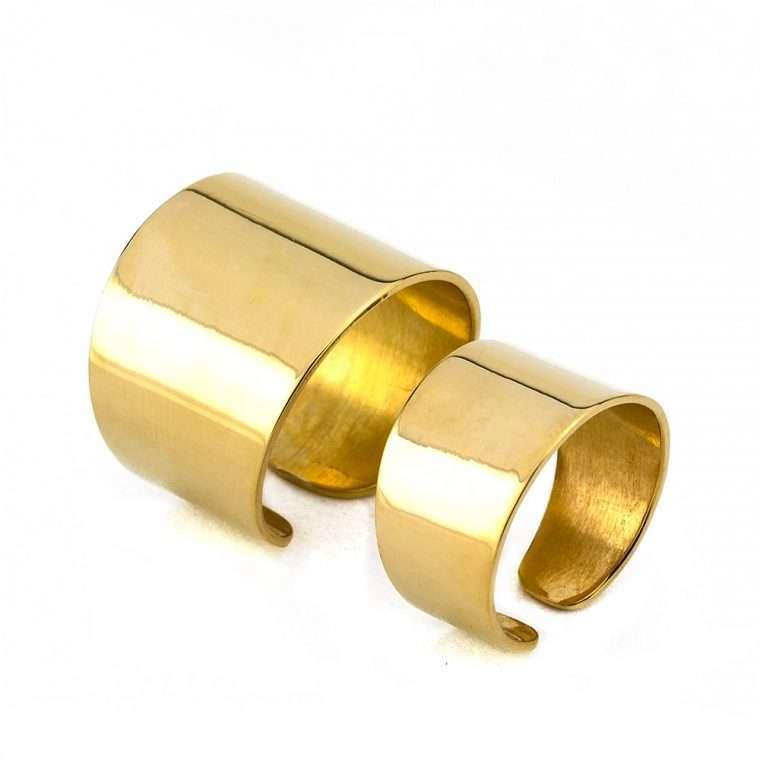 Γυναικείο Ασημένιο ζευγάρι δαχτυλίδια σωλήνας No.3