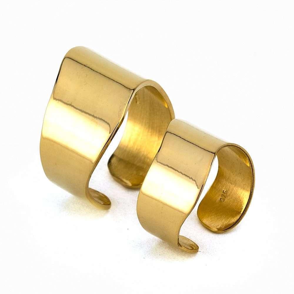 Γυναικείο Ασημένιο ζευγάρι δαχτυλίδια σωλήνας No.4