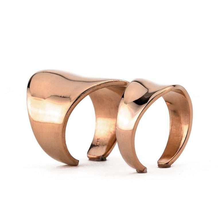 Γυναικείο Ασημένιο ζευγάρι δαχτυλίδια σωλήνας Νο.5