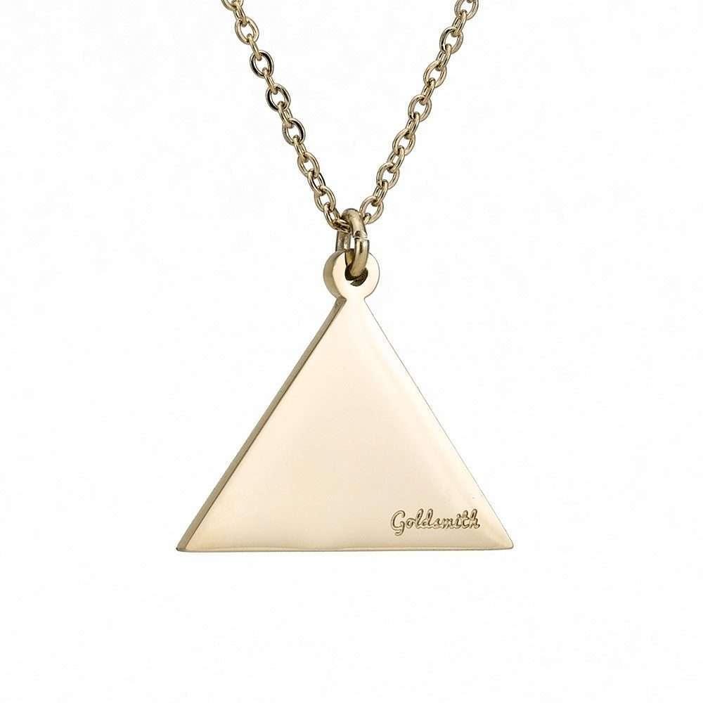 Γυναικείο κολιέ τρίγωνο stainless steel χρυσό.