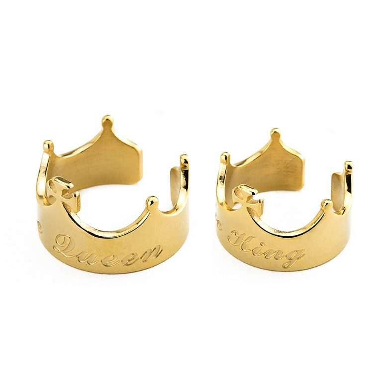 Goldsmith King and Queen crown stainless steel ζευγάρι δαχτυλιδιών