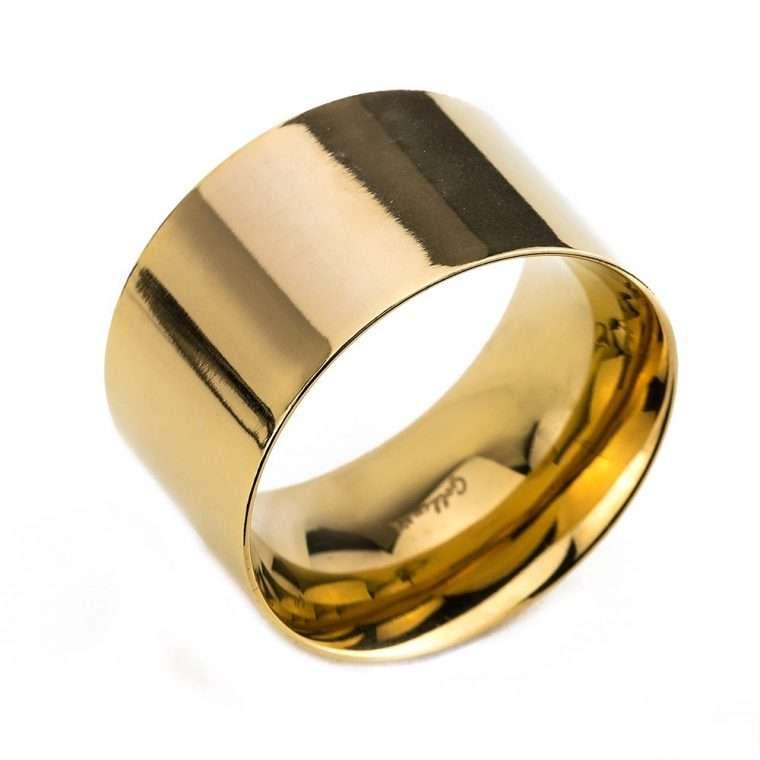 Δαχτυλίδι σωλήνας Goldsmith signet stainless steel gloss χρυσό RG48
