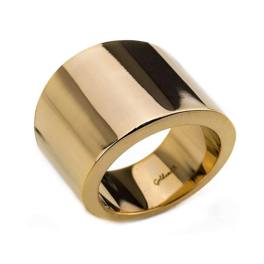 Γυναικείο Δαχτυλίδι σωλήνας Goldsmith signet stainless steel gloss χρυσό RG50