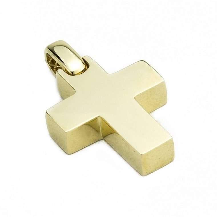Χρυσός σταυρός βάπτισης 14 καρατίων για αγόρι Νο. 976