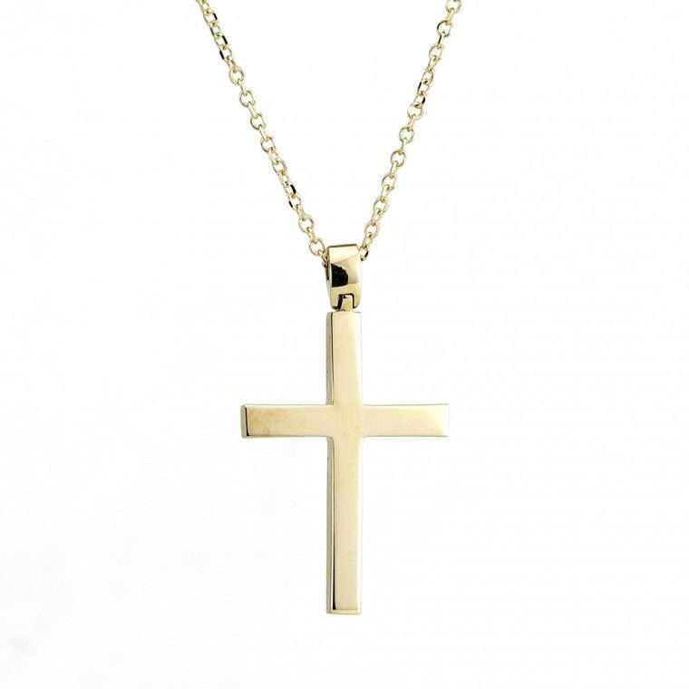 Χρυσός σταυρός βάπτισης 14 καρατίων.