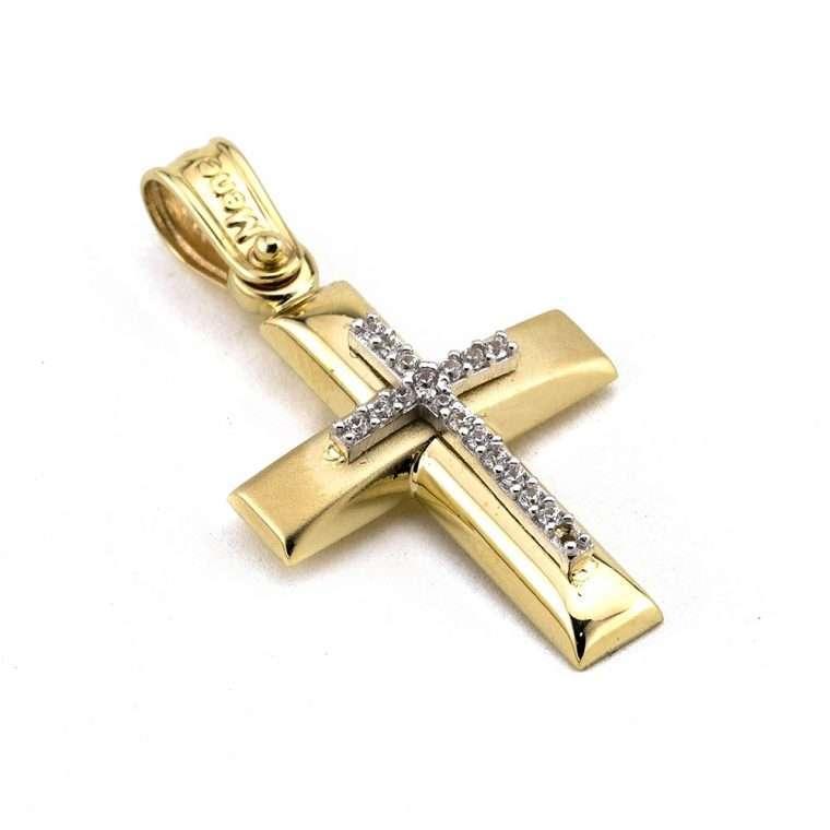 Χρυσός σταυρός βάπτισης για Κορίτσι 14 καρατίων Νο.340