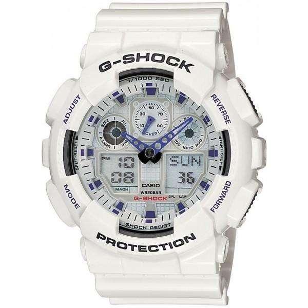 CASIO G-Shock - 100A-7AER White case, with White Rubber Strap