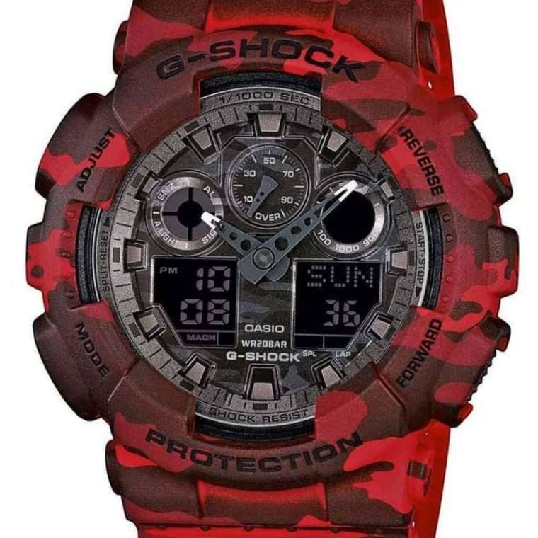 CASIO G-Shock - 100CM-4AER Black Red case, with Black Red Rubber Strap