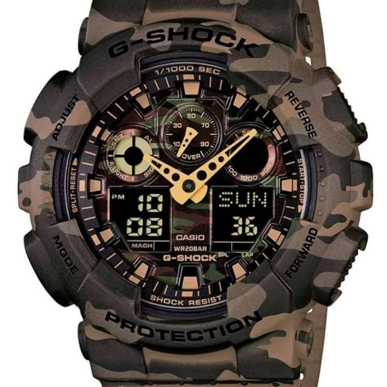 CASIO G-Shock - 100CM-5AER Variant case, with Variant Rubber Strap