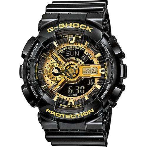 CASIO G-Shock - 110GB-1AER, Black case with Black Rubber Strap