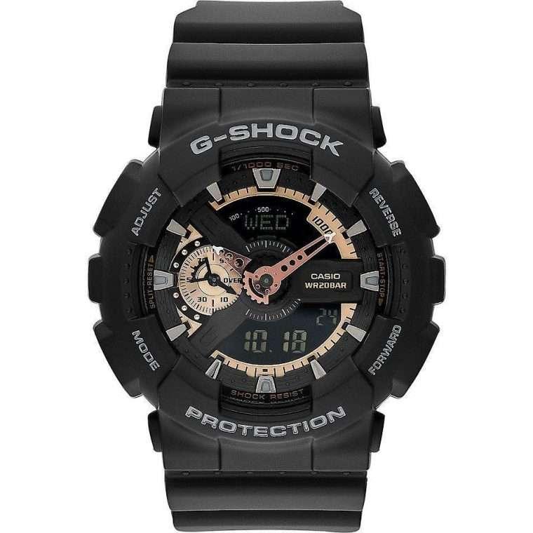 CASIO G-Shock - 110RG-1AER Black case, with Black Rubber Strap