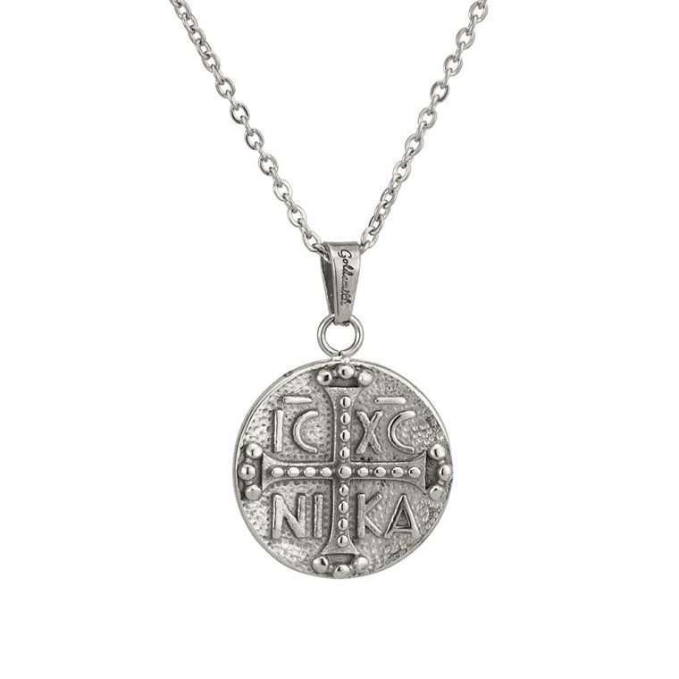 Γυναικείο κολιέ Κωνσταντινάτο stainless steel ασημί cg5