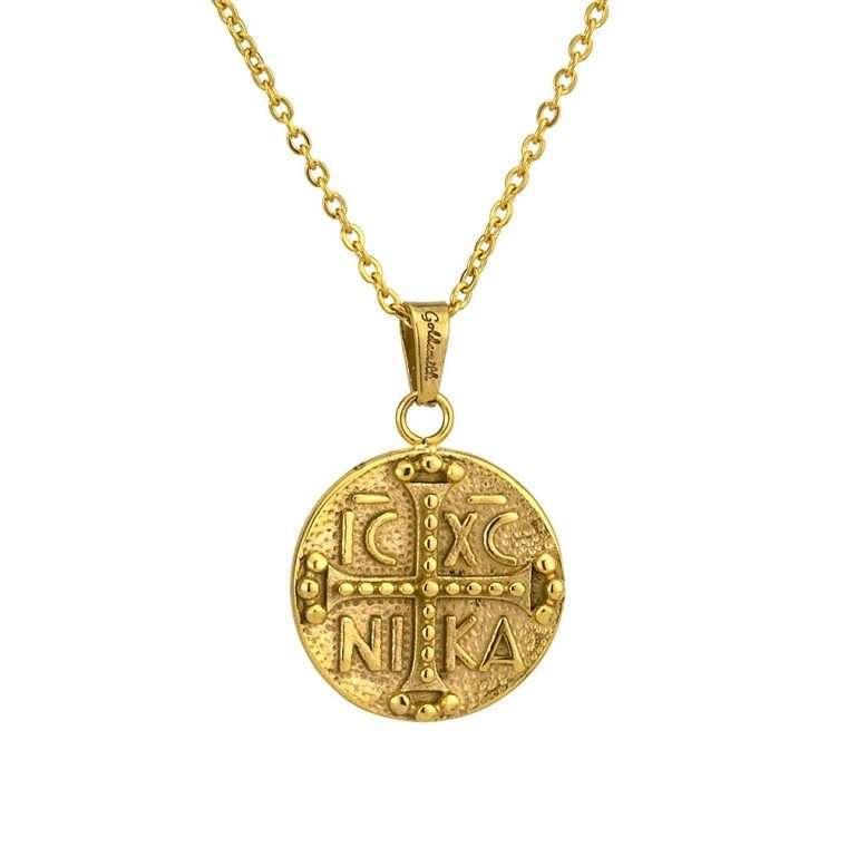Γυναικείο κολιέ Κωνσταντινάτο stainless steel χρυσό cg5