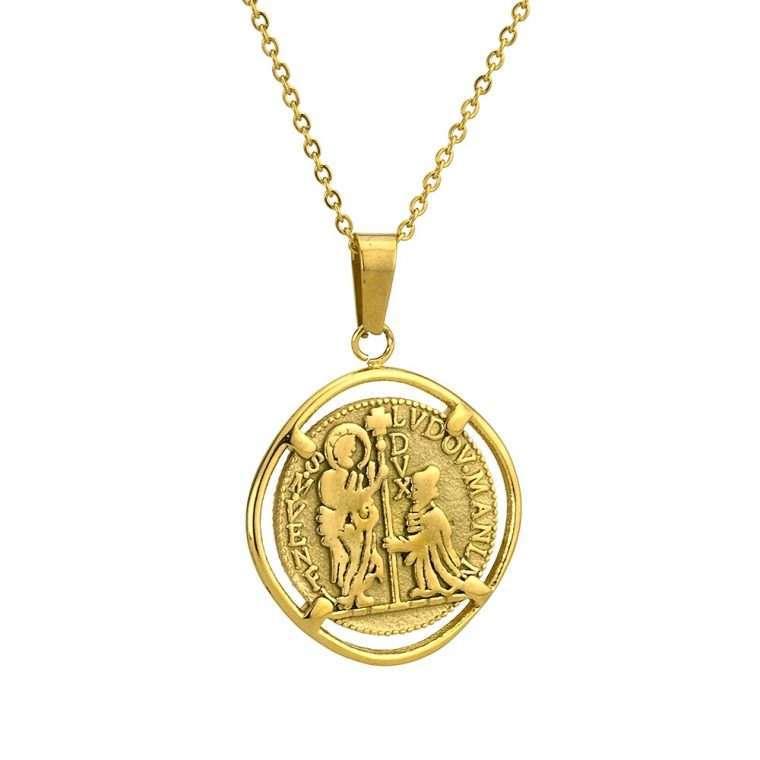 Γυναικείο κολιέ Κωνσταντινάτο stainless steel χρυσό cg3