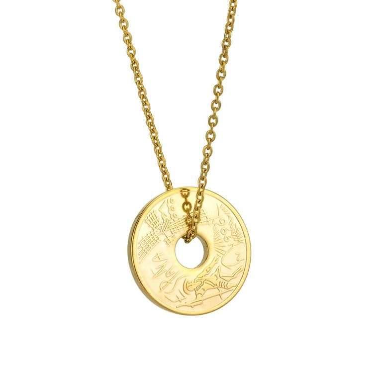 Γυναικείο κολιέ Κωνσταντινάτο stainless steel χρυσό cg1