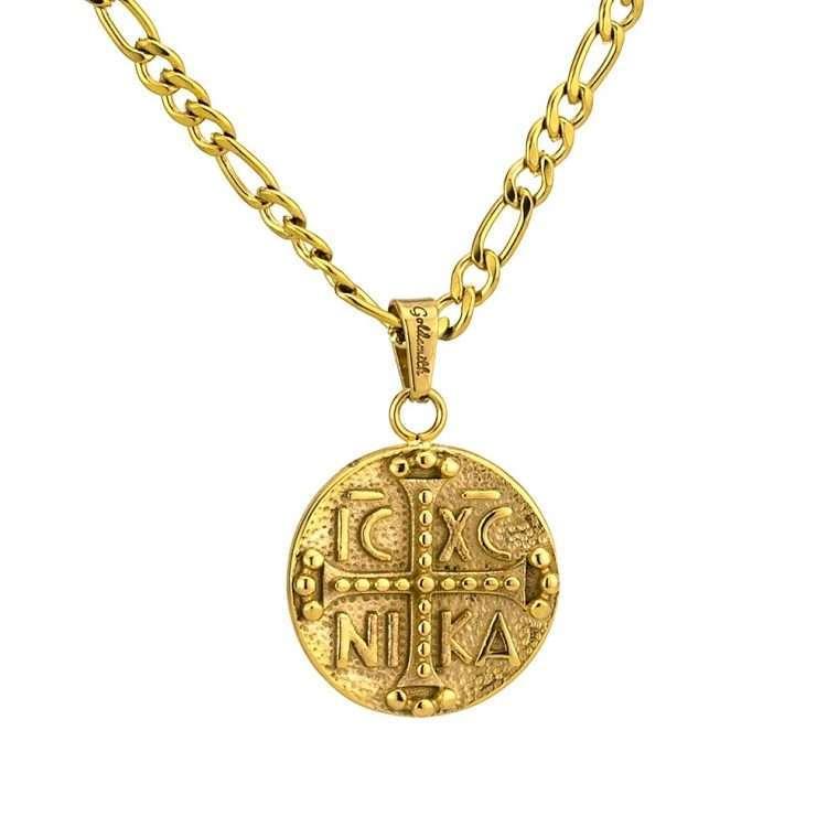 Γυναικείο κολιέ Κωνσταντινάτο stainless steel χρυσό cg27