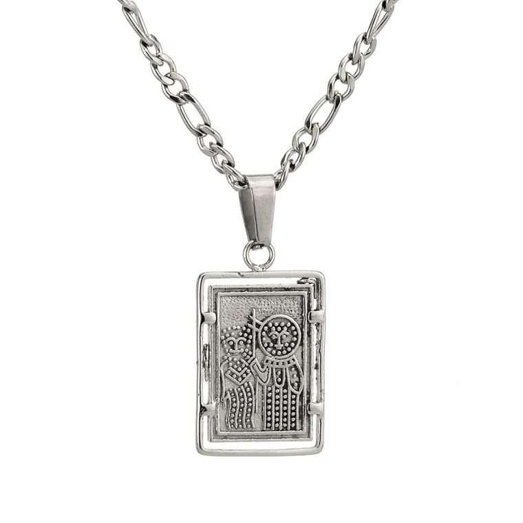 Γυναικείο κολιέ Κωνσταντινάτο stainless steel ασημί cg26