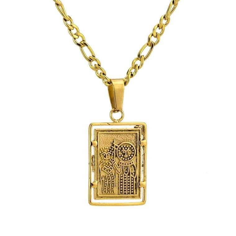 Γυναικείο κολιέ Κωνσταντινάτο stainless steel χρυσό cg26