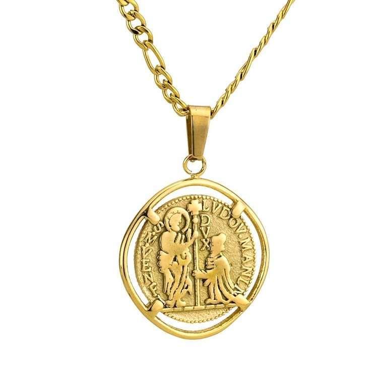 Γυναικείο κολιέ Κωνσταντινάτο stainless steel χρυσό cg25