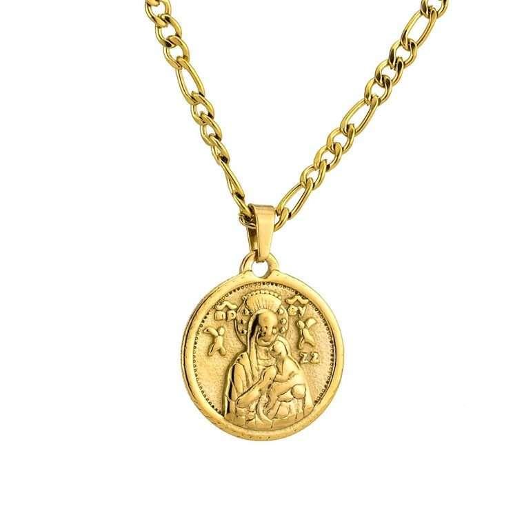 Γυναικείο κολιέ Κωνσταντινάτο stainless steel χρυσό cg24