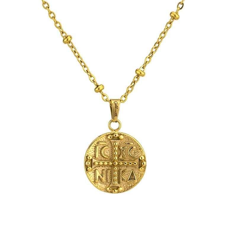 Γυναικείο κολιέ Κωνσταντινάτο stainless steel χρυσό cg9