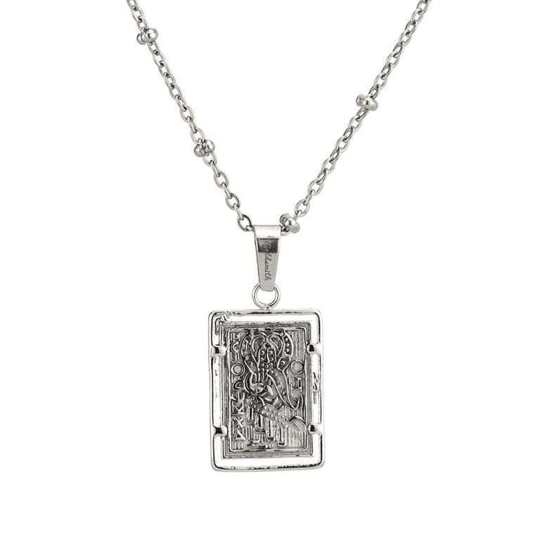 Γυναικείο κολιέ Κωνσταντινάτο stainless steel ασημί cg8