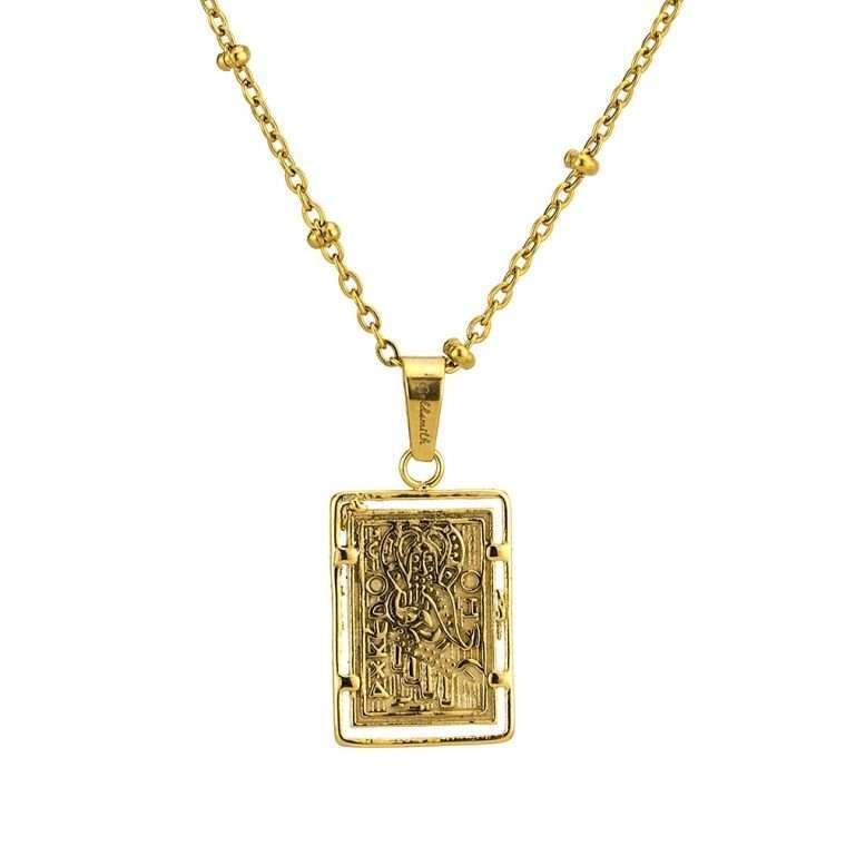 Γυναικείο κολιέ Κωνσταντινάτο stainless steel χρυσό cg8