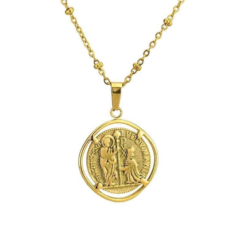 Γυναικείο κολιέ Κωνσταντινάτο stainless steel χρυσό cg7