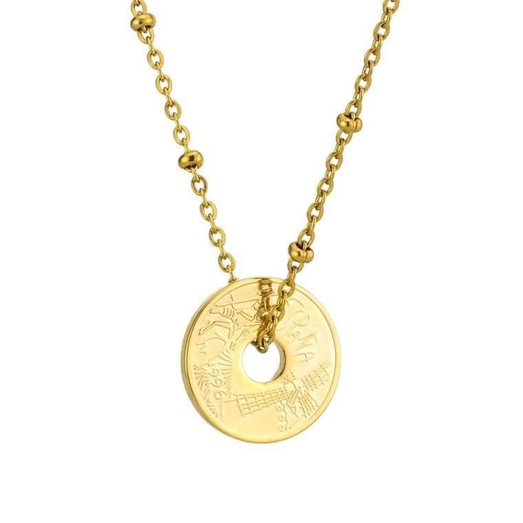 Γυναικείο κολιέ Κωνσταντινάτο stainless steel χρυσό cg6
