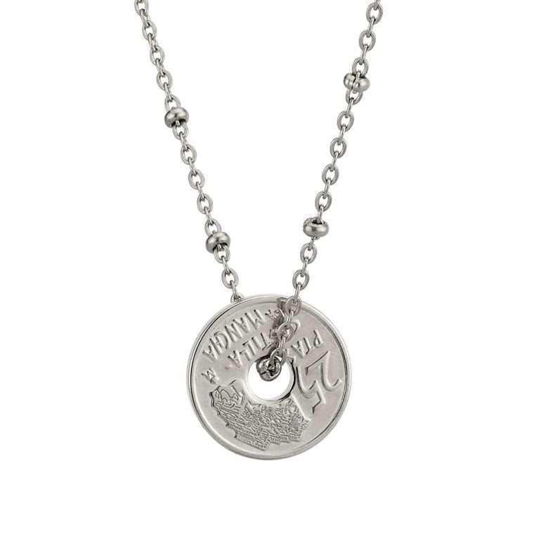 Γυναικείο κολιέ Κωνσταντινάτο stainless steel ασημί cg6