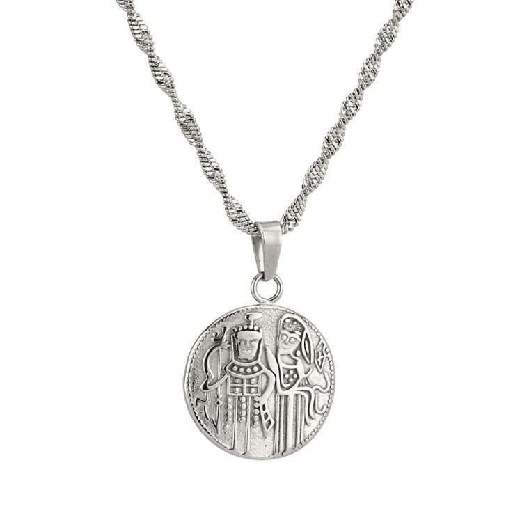 Γυναικείο κολιέ Κωνσταντινάτο stainless steel ασημί cg19