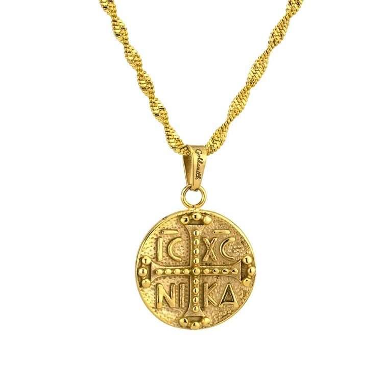 Γυναικείο κολιέ Κωνσταντινάτο stainless steel χρυσό cg19