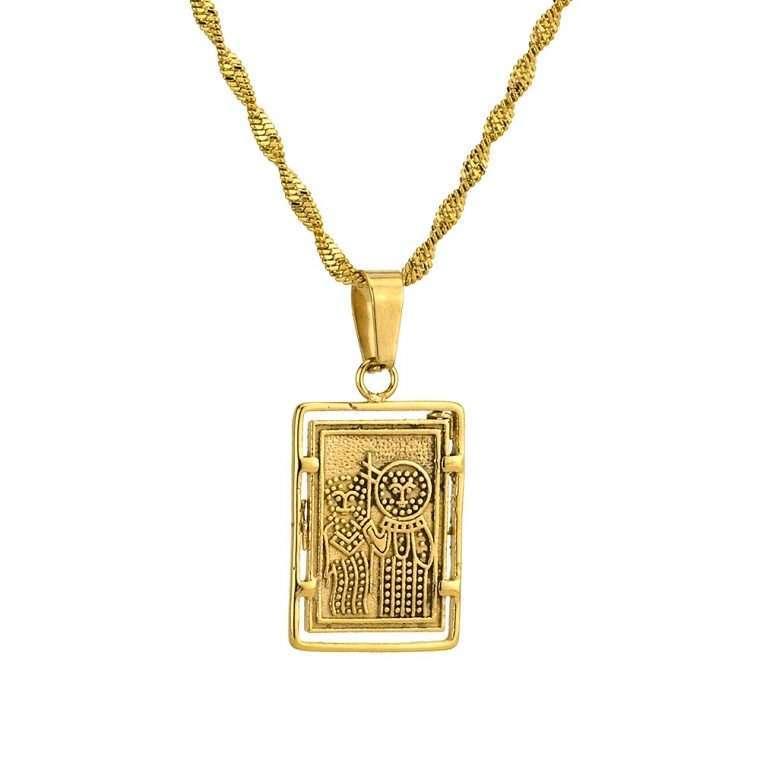 Γυναικείο κολιέ Κωνσταντινάτο stainless steel χρυσό cg18