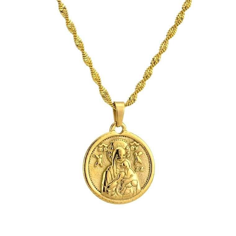 Γυναικείο κολιέ Κωνσταντινάτο stainless steel χρυσό cg16