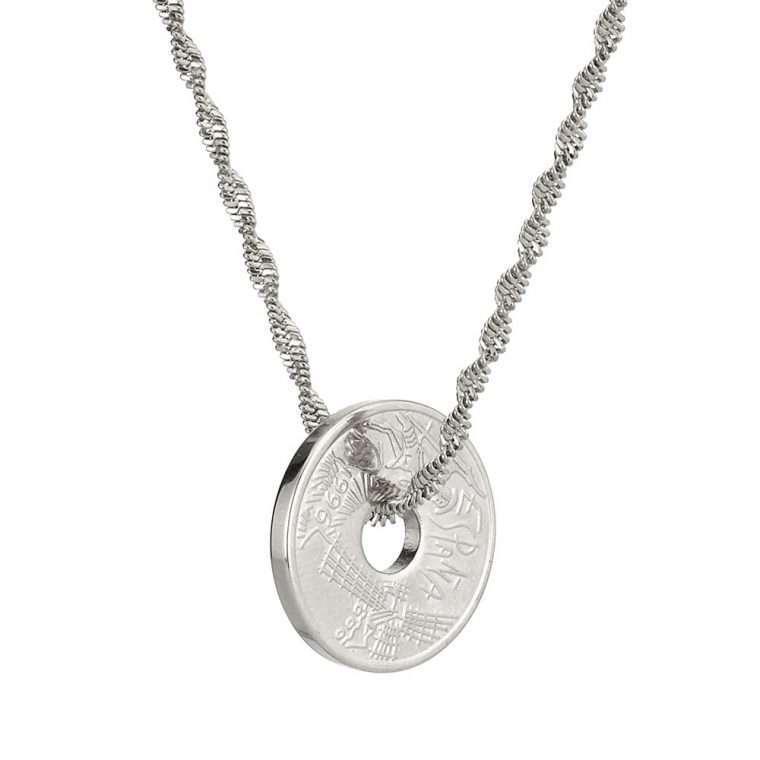 Γυναικείο κολιέ Κωνσταντινάτο stainless steel ασημί cg15
