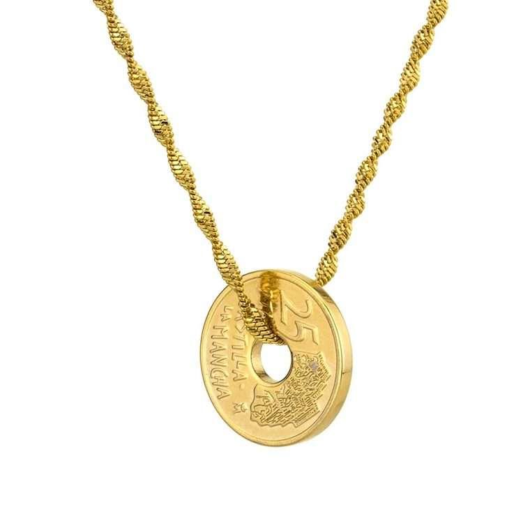 Γυναικείο κολιέ Κωνσταντινάτο stainless steel χρυσό cg15