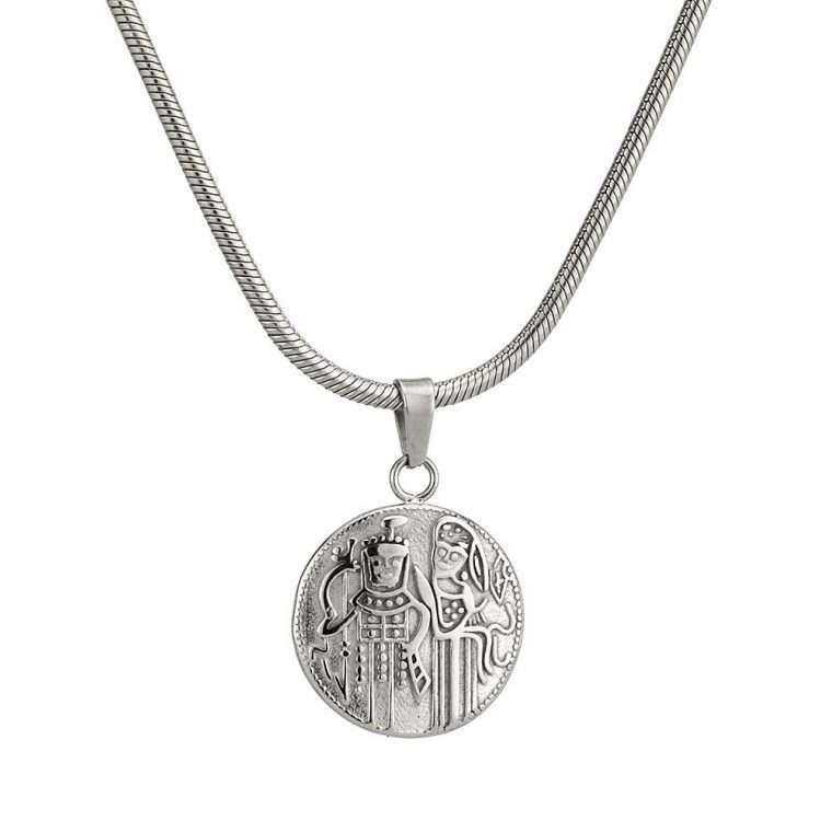 Γυναικείο κολιέ Κωνσταντινάτο stainless steel ασημί cg14