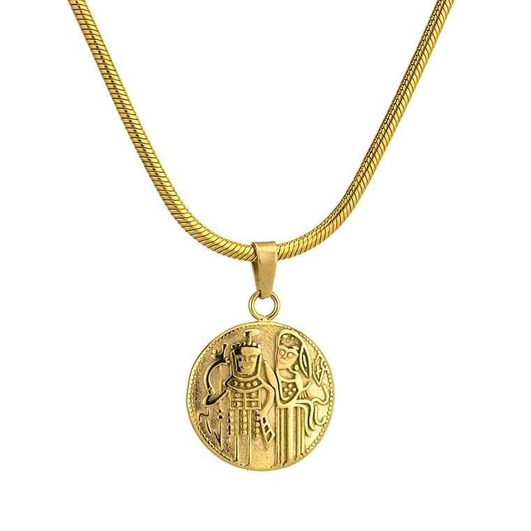 Γυναικείο κολιέ Κωνσταντινάτο stainless steel χρυσό cg14