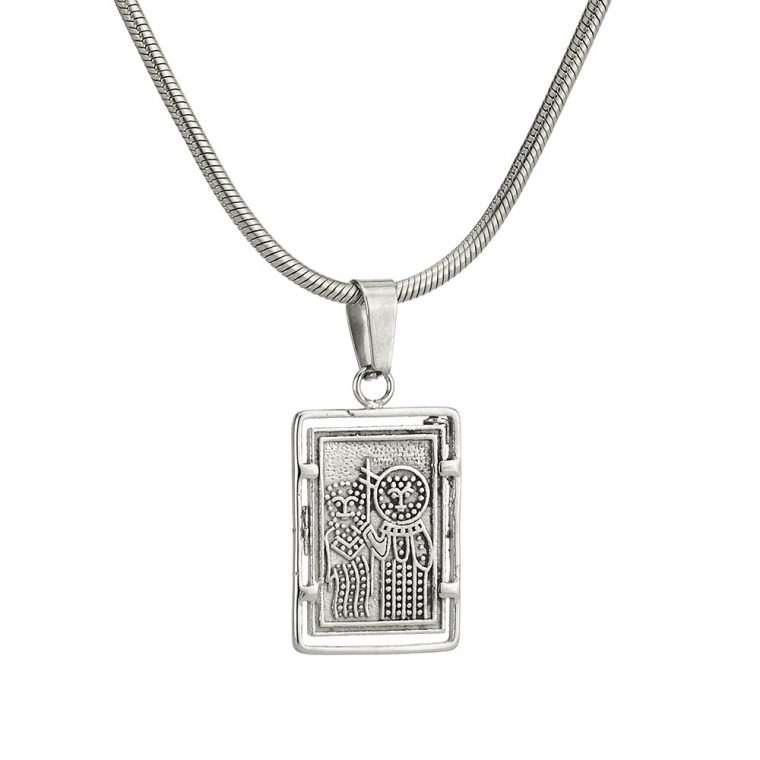 Γυναικείο κολιέ Κωνσταντινάτο stainless steel ασημί cg13