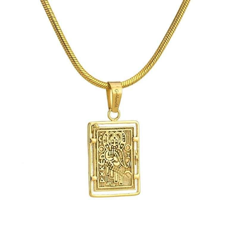 Γυναικείο κολιέ Κωνσταντινάτο stainless steel χρυσό cg13