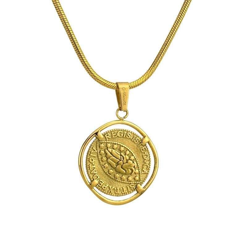 Γυναικείο κολιέ Κωνσταντινάτο stainless steel χρυσό cg12