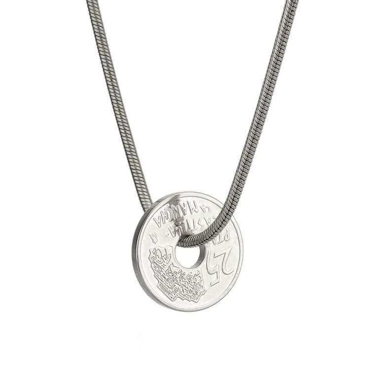 Γυναικείο κολιέ Κωνσταντινάτο stainless steel ασημί cg10