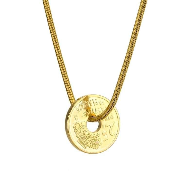 Γυναικείο κολιέ Κωνσταντινάτο stainless steel χρυσό cg10