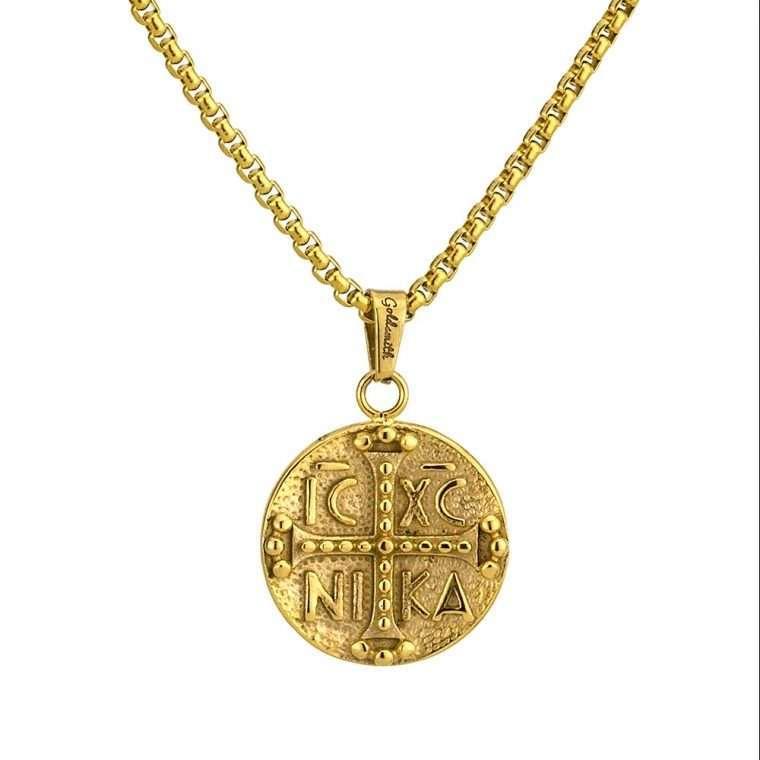 Γυναικείο κολιέ Κωνσταντινάτο stainless steel χρυσό cg21