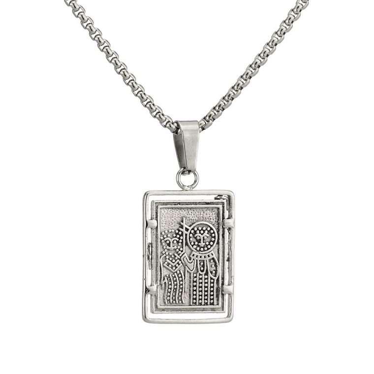 Γυναικείο κολιέ Κωνσταντινάτο stainless steel ασημί cg22