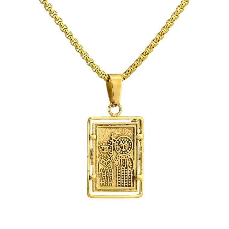 Γυναικείο κολιέ Κωνσταντινάτο stainless steel χρυσό cg22