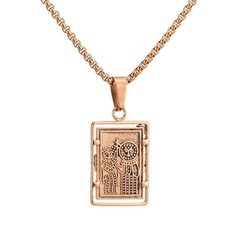 Γυναικείο κολιέ Κωνσταντινάτο stainless steel ροζ cg22