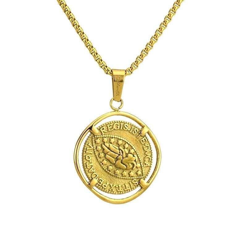Γυναικείο κολιέ Κωνσταντινάτο stainless steel χρυσό cg23
